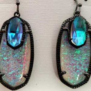 Kendra Scott Emmy Dichroic Foil Gunmetal Earrings